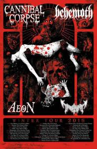 cannibal corpse_behemoth_winter tour 2015