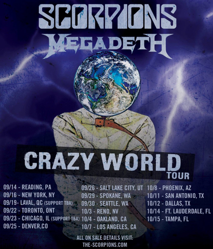 Scorpions And Megadeth Tour